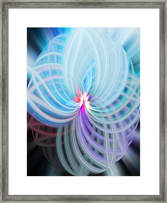 Framed Print featuring the photograph Blue/purple Spere by Cherie Duran