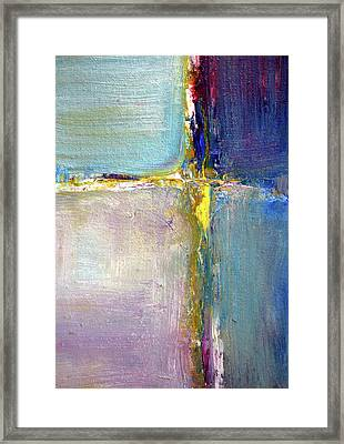 Framed Print featuring the painting Blue Quarters by Nancy Merkle