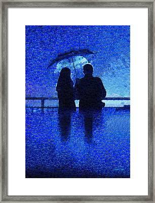 Blue Rain - Da Framed Print