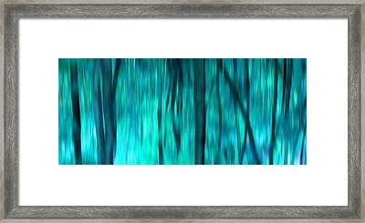 Blue Rain Forest Framed Print by Lucie Lenzket