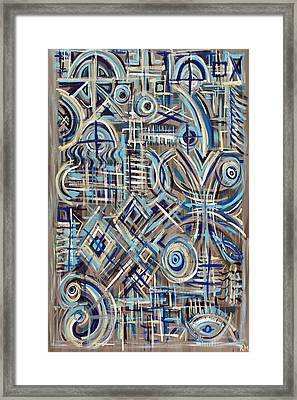 Blue Raucous Framed Print