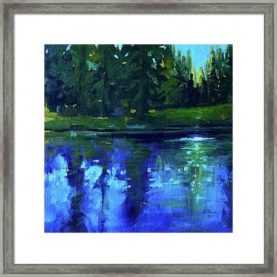 Blue Reflection Framed Print by Nancy Merkle