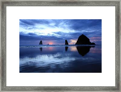 Blue Reflections  Framed Print by Kami McKeon