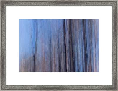 Blue Relief Framed Print
