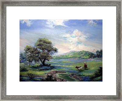 Blue Respite Framed Print by Judith Allison