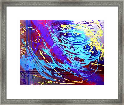 Framed Print featuring the painting Blue Reverie by Mordecai Colodner