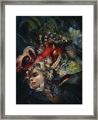 Blue Ribbon Framed Print by Heather Theurer