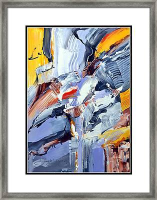 Blue Rider  Framed Print by Jacek  Ungierat - Jung