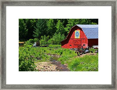 Blue Ridge Barn Framed Print