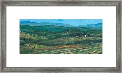 Blue Ridge Black Cows Framed Print by Pete Maier