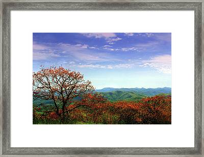 Framed Print featuring the photograph Blue Ridge Blessing by Jessica Brawley