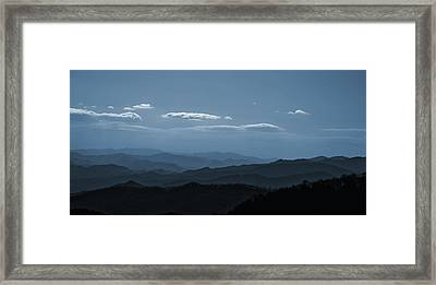 Blue Ridge Blue Framed Print