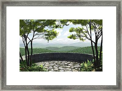 Blue Ridge Framed Print