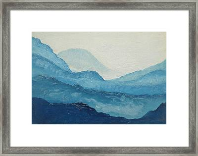 Blue Ridge Framed Print by D T LaVercombe