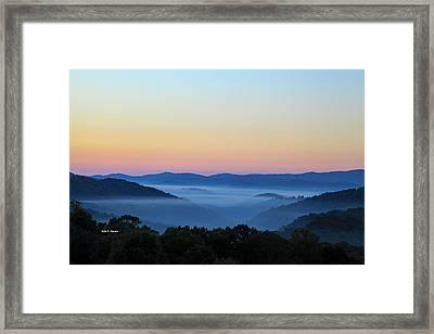 Blue Ridge Dawn Framed Print