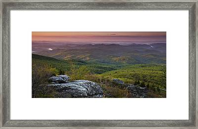 Blue Ridge Dawn Panorama Framed Print by Andrew Soundarajan