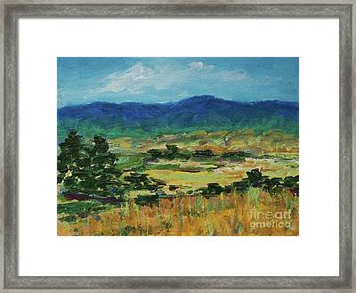 Blue Ridge Framed Print by Gail Kent