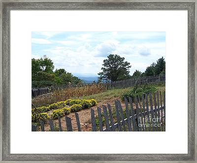 Blue Ridge Garden Framed Print by Randy Edwards