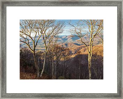Framed Print featuring the photograph Blue Ridge Longshadows by Carl Amoth