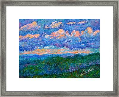Blue Ridge Magic From Sharp Top  Framed Print