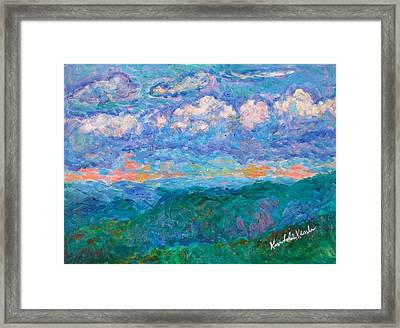Blue Ridge Magic From Sharp Top Stage One Framed Print by Kendall Kessler