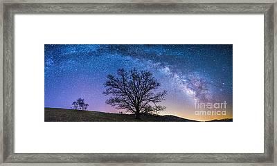 Blue Ridge Milkyway Framed Print by Robert Loe