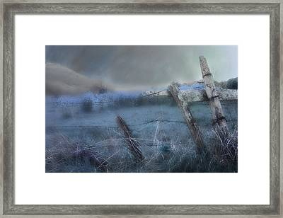 Framed Print featuring the painting Blue Ridge Morning by Gray  Artus