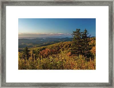 Blue Ridge Mountain Autumn Vista Framed Print