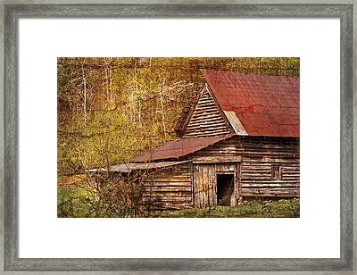 Blue Ridge Mountain Barn Framed Print by Debra and Dave Vanderlaan