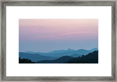 Blue Ridge Mountains After Sunset Framed Print