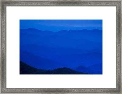 Blue Ridge Mountains Framed Print by Andrew Soundarajan