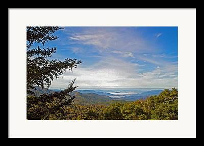 Smokey Mountain Drive Digital Art Framed Prints