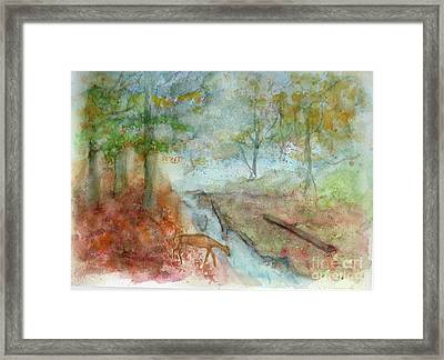 Framed Print featuring the painting Blue Ridge Mountains Memories by Doris Blessington