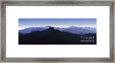 Framed Print featuring the photograph Blue Ridge Mountains. Pacific Crest Trail by David Zanzinger