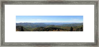Blue Ridge Mountains Panorama Framed Print by Dan Sproul