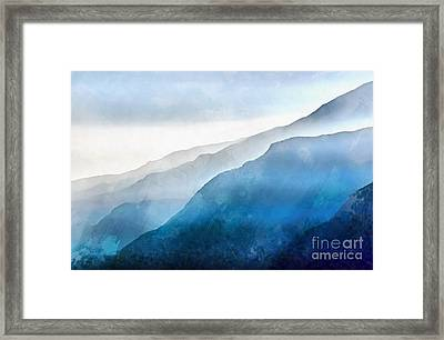 Blue Ridge Mountians Framed Print by Edward Fielding