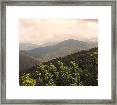 Blue Ridge Overlook Framed Print