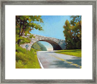 Blue Ridge Overpass Framed Print by Todd Baxter