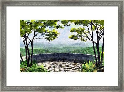 Blue Ridge Painted Framed Print by Cynthia Decker