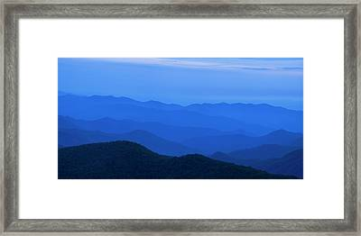 Blue Ridge Panorama Framed Print by Andrew Soundarajan