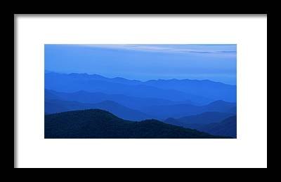 Blue Ridge Framed Prints