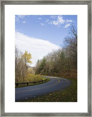 Framed Print featuring the photograph Blue Ridge Parkway by Alan Raasch