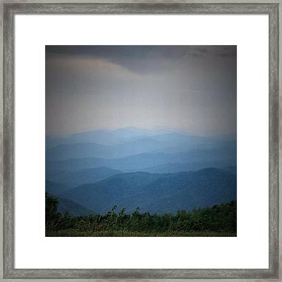 Blue Ridge Parkway Silhouette Framed Print by Jen McKnight