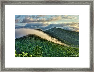 Blue Ridge Parkway Cloud Waves At Sunrise Framed Print by Reid Callaway