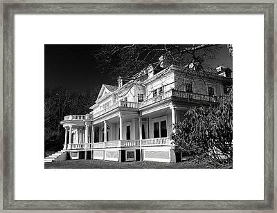 Blue Ridge Parkway Flat Top Manor Bw Framed Print