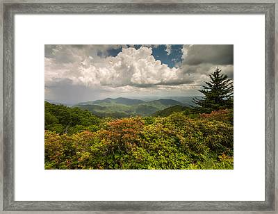 Blue Ridge Parkway Green Knob Overlook Framed Print