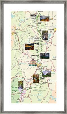 Blue Ridge Parkway In North Carolina Framed Print by John Haldane