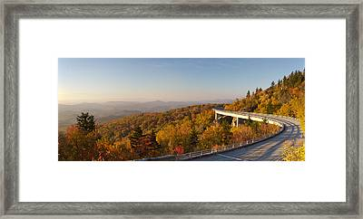 Blue Ridge Parkway Linn Cove Viaduct Fall Colors Framed Print