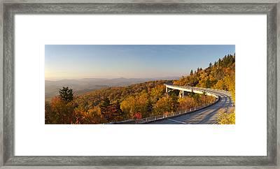 Blue Ridge Parkway Linn Cove Viaduct Fall Colors Framed Print by Dustin K Ryan