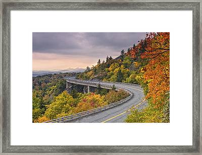 Lynn Cove Viaduct-blue Ridge Parkway  Framed Print